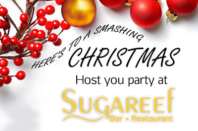 Celebrate Christmas in style at Sugareef bar and Restaurant with our special Xmas party packages