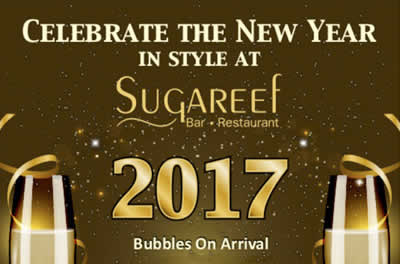 Celebrate NYE in style at Sugareef Bar and Restaurant Jersey with our special New Years Eve Party