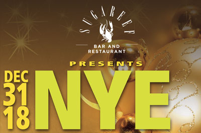 Celebrate NYE 2018 in style at Sugareef Bar and Restaurant Jersey with our special New Years Eve Party