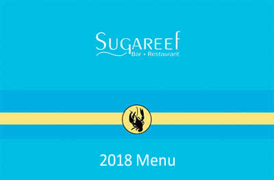 The New Sugareef Restaurant 2018 Menu